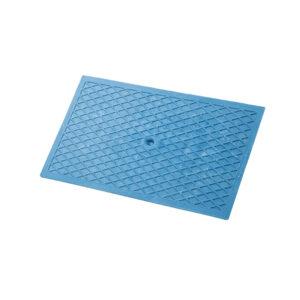 Desempenadeira Plástica Corrugada Azul 18×30