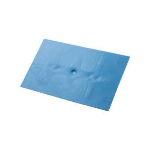Desempenadeira Plástica Lisa Azul 18×30