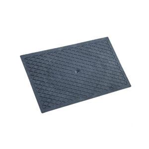 Desempenadeira Plástica Corrugada Preta 18×30